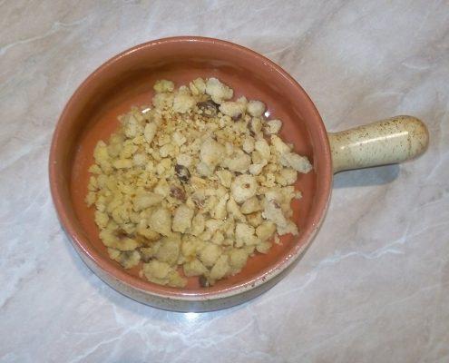Cukormentes császármorzsa steviával