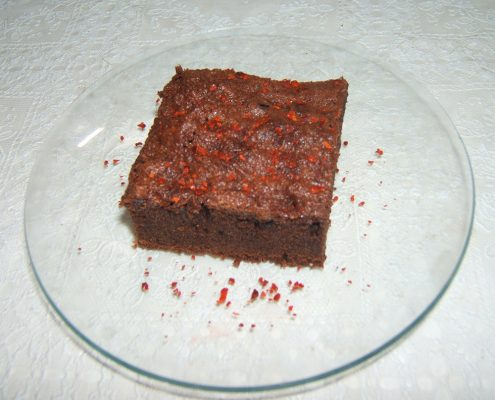 "Chilis ""hamis"" brownie steviával"