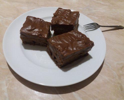 Krémes csokis sütemény steviával