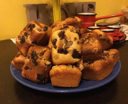 Diós - Áfonyás muffin Mindenmentesen steviával